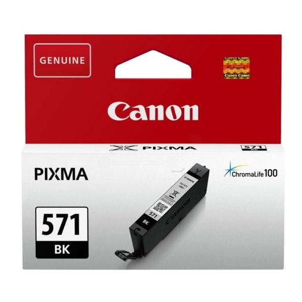 Original Canon CLI-571BK Black Ink Cartridge (0385C001)