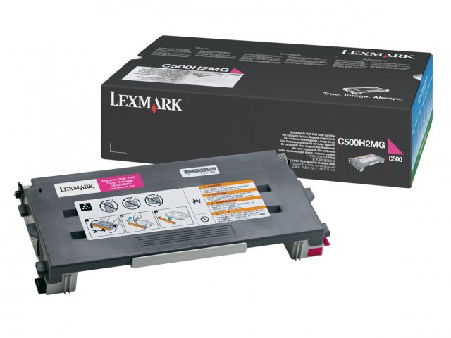Original Lexmark 0C500H2MG Magenta Toner Cartridge