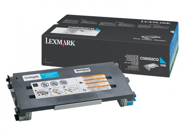 Original Lexmark 0C500S2CG Cyan Toner Cartridge
