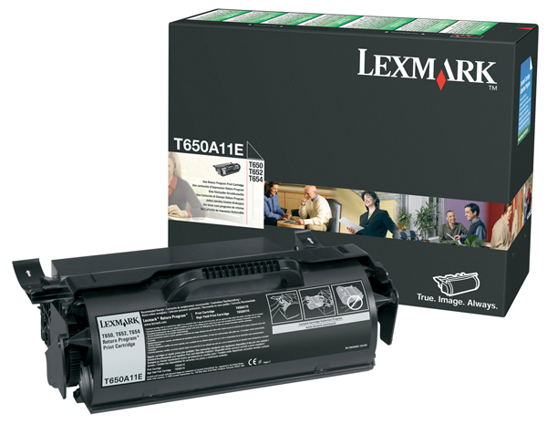 Original Lexmark 0T650A11E Black toner Cartridge