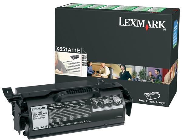 Original Lexmark 0X651A11E Black Toner Cartridge