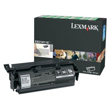 Original Lexmark 0X651H11E Black Toner Cartridge