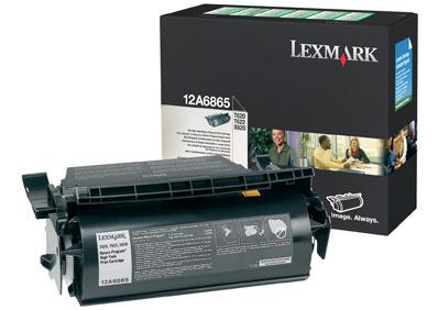 Original Lexmark 12A6865 Black Toner Cartridge