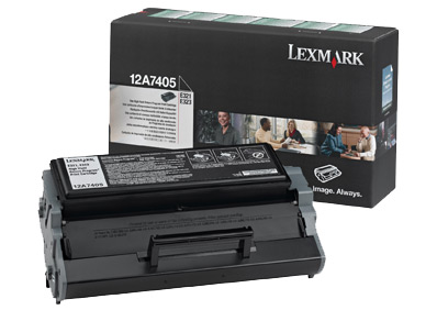 Original Lexmark 12A7405 Black Toner Cartridge