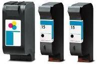 Remanufactured HP 78 Colour and HP 15 Black Ink Cartridges + EXTRA BLACK