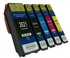 Compatible Epson 26XL a Set of 5 Ink cartridges High Capacity (Black/Photo Black/Cyan/Magenta/Yellow)