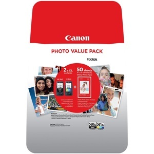Canon Original PG-560XL & CL-561XL High Capacity Black & Colour Inkjet Cartridge Multipack - (3712C004)