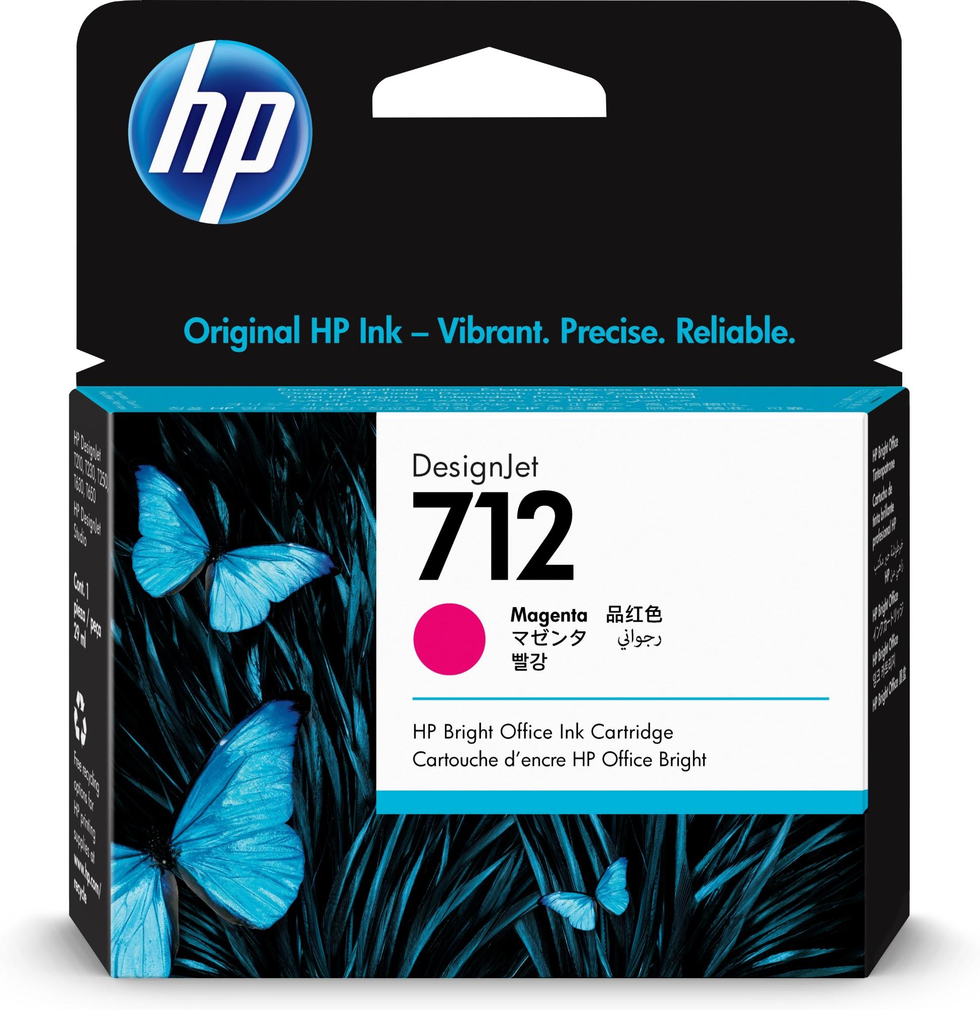 HP Original 712 Magenta Inkjet Cartridge 3ED68A