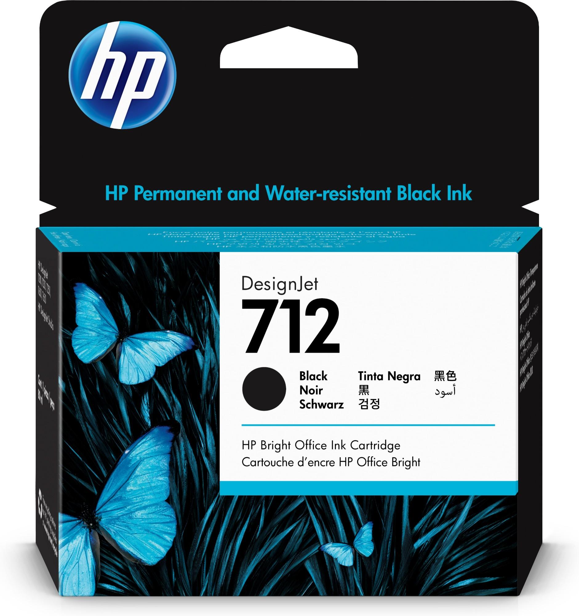HP Original 712 Black High Capacity Inkjet Cartridge 3ED71A