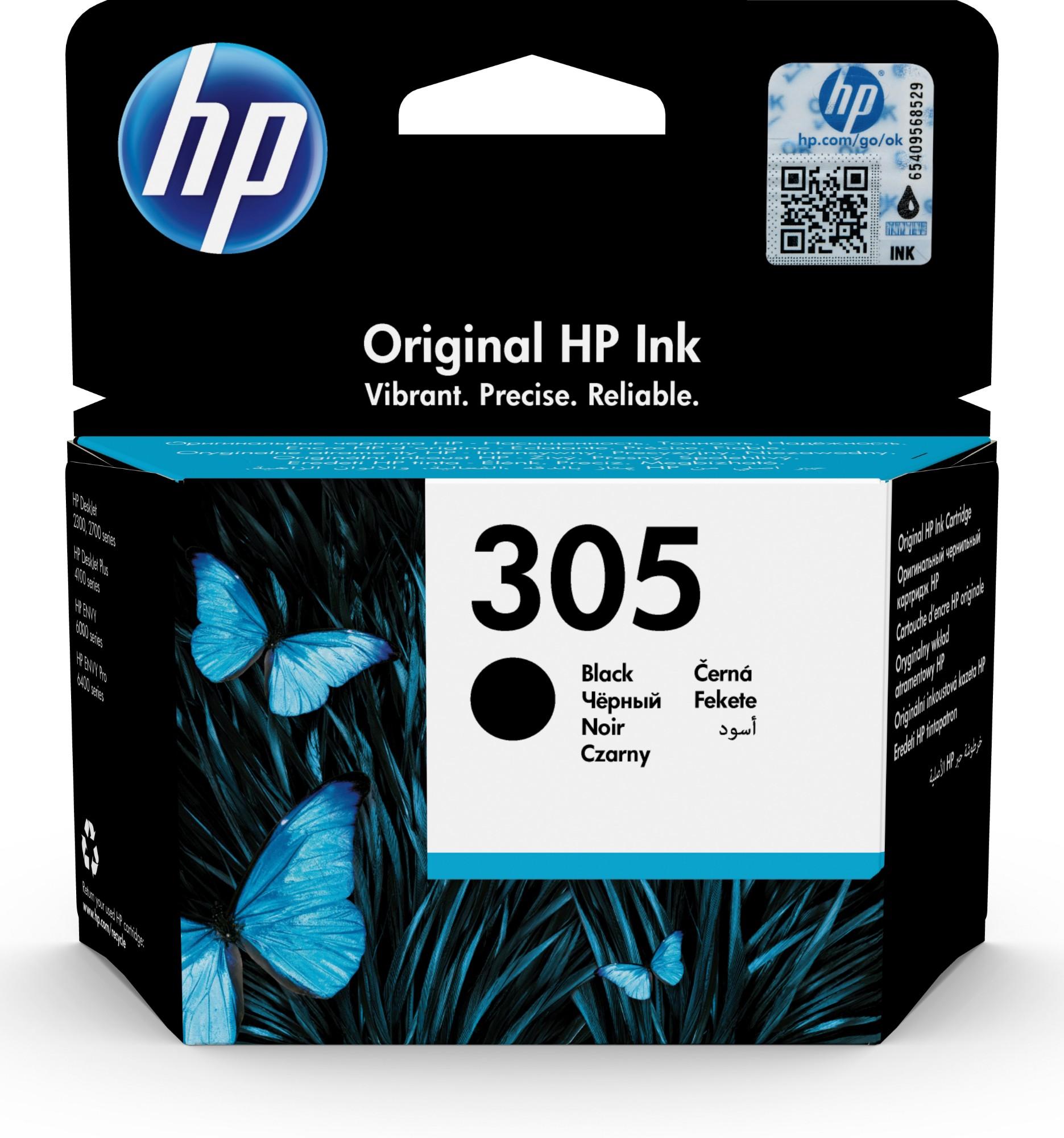 Original HP 305 Black Inkjet Cartridge 3YM61AE