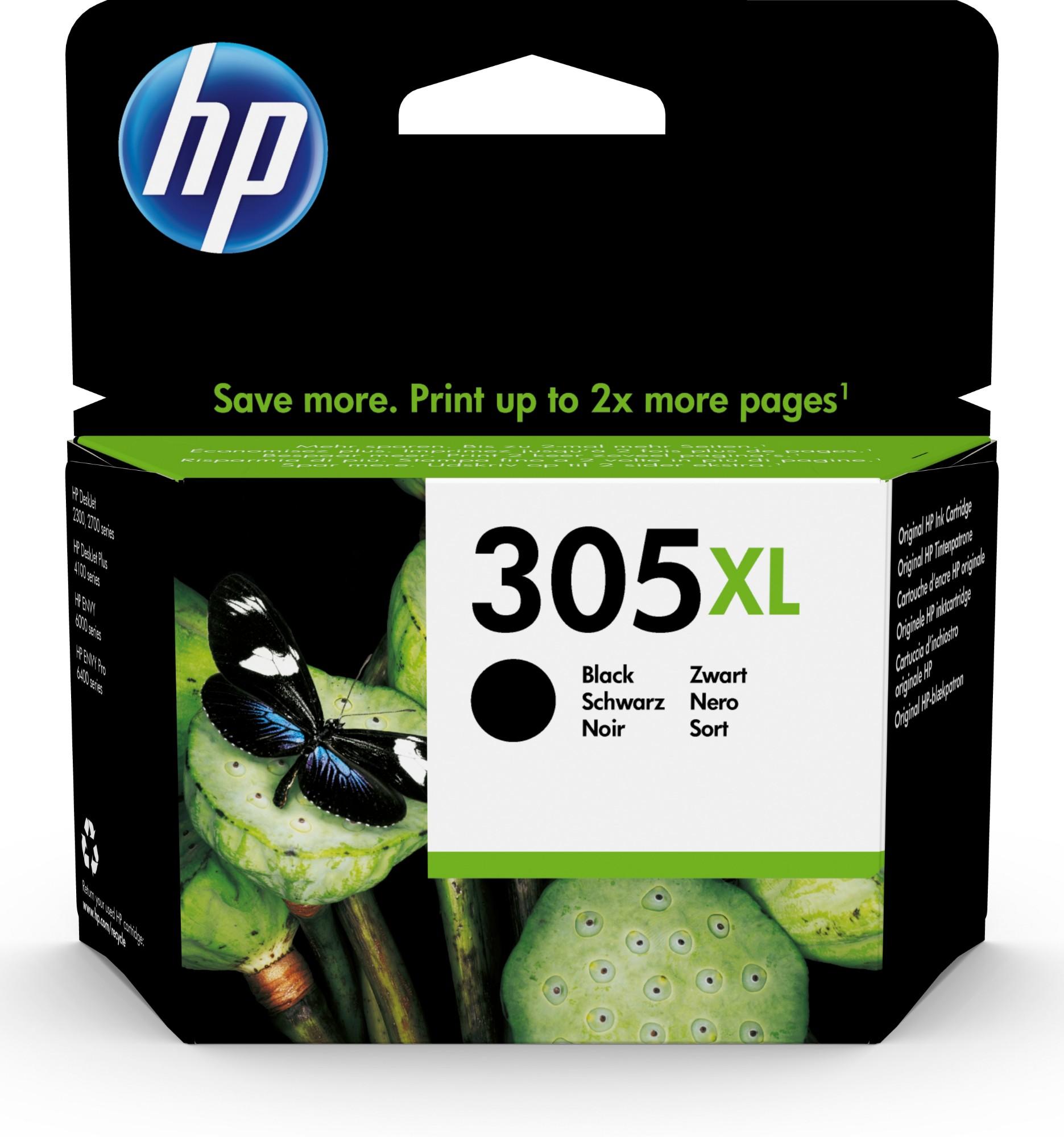 Original HP 305XL Black High Capacity Inkjet Cartridge 3YM62AE