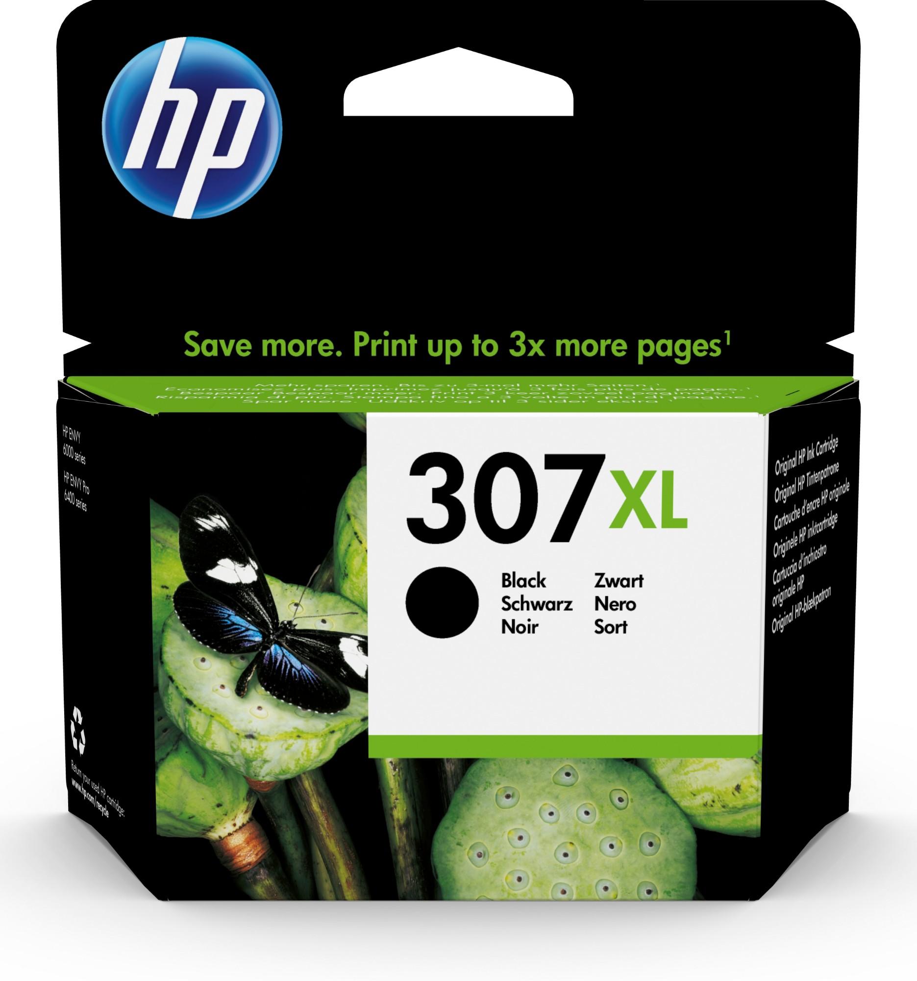 Original HP 307XL Black High Capacity Inkjet Cartridge 3YM64AE