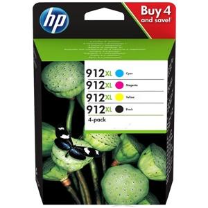 HP Original 912XL 4 Colour High Capacity Inkjet Cartridge Multipack - (3YP34AE)