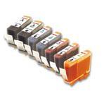 Compatible Canon BCI-3 a Set of 7 Ink cartridge (Black/Cyan/Magenta/Yellow/Photo Cyan/Photo Magenta)