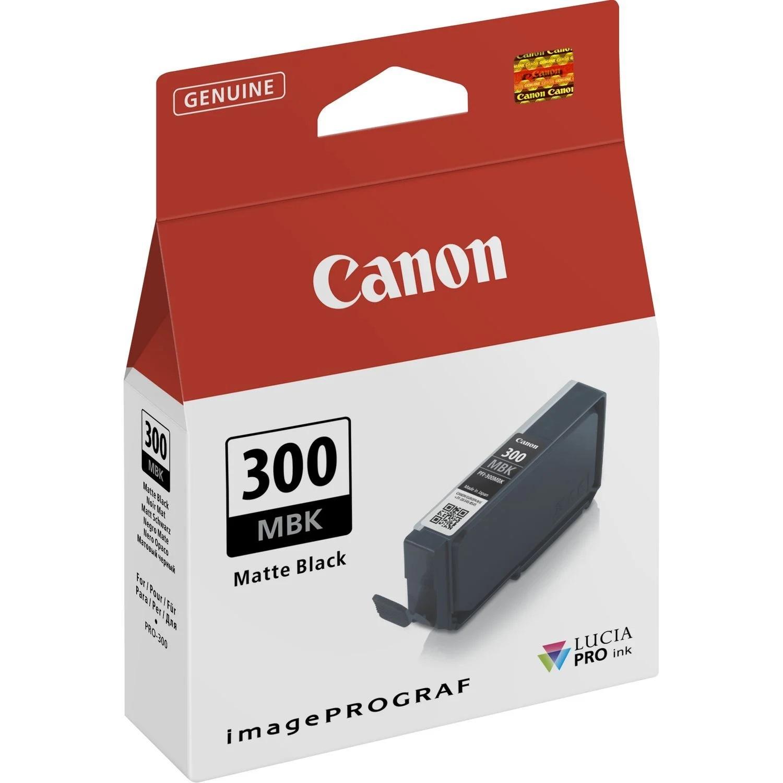 Canon Original PFI300MBK Matte Black Inkjet Cartridge 4192C001