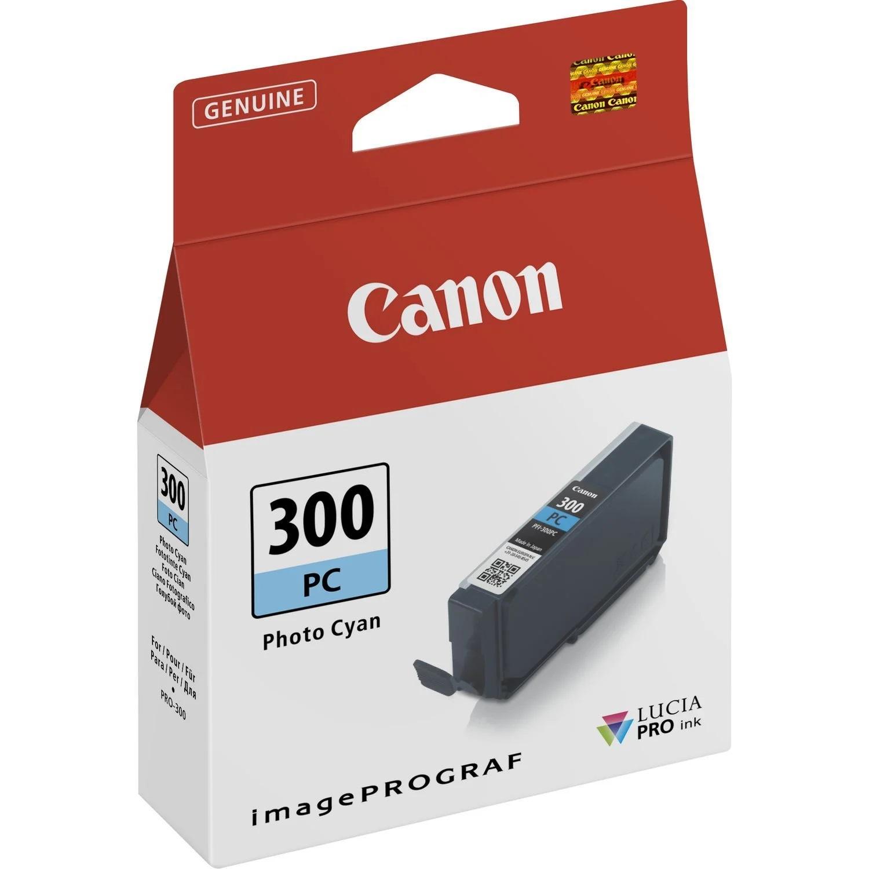 Canon Original PFI300PC Photo Cyan Inkjet Cartridge 4197C001
