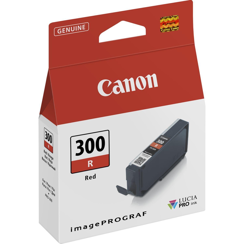 Canon Original PFI300R Red Inkjet Cartridge 4199C001