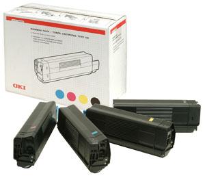 Original OKI 42403002 a  set of 4 cartridges Rainbow Pack