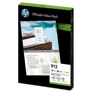 HP Original 912 3 Colour Inkjet Cartridge Multipack - (6JR41AE)
