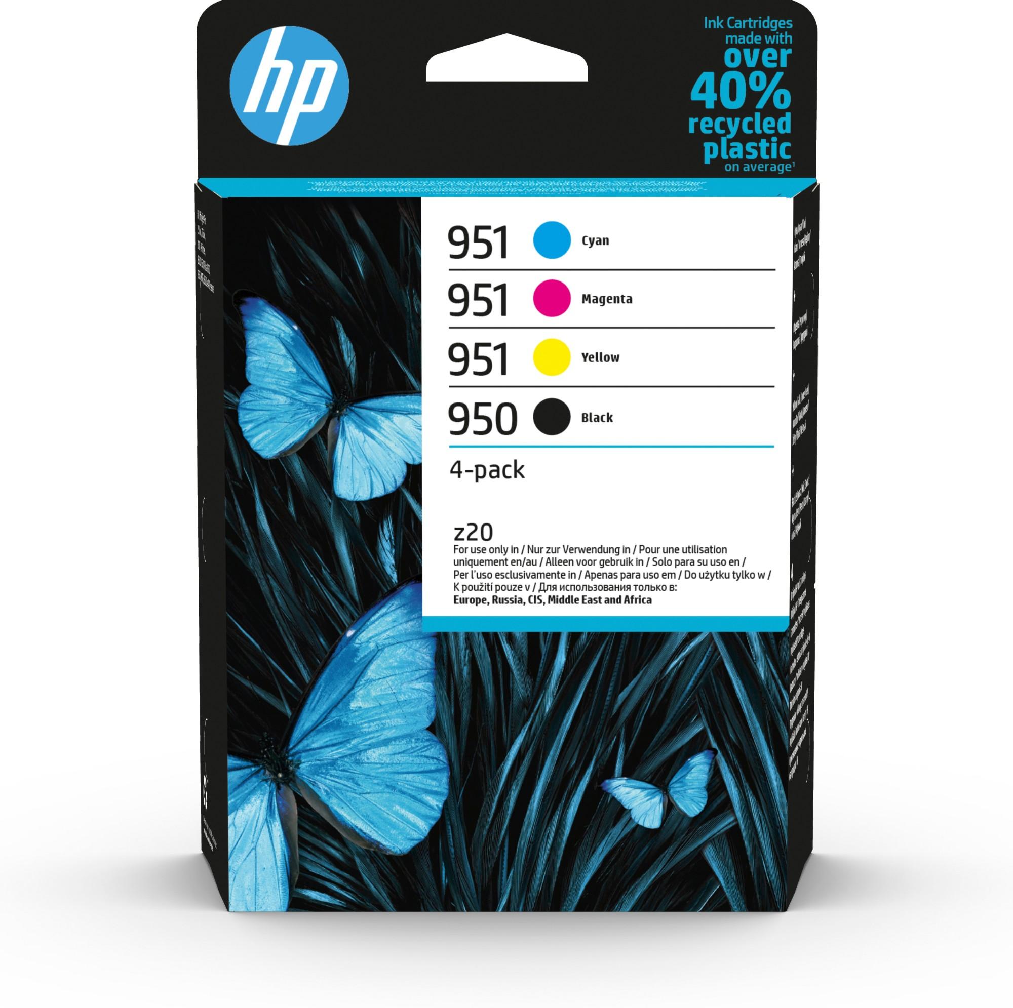 Original HP 950/951 Combo Pack Of 4 Ink Cartridges (Black/Cyan/Magenta/Yellow)
