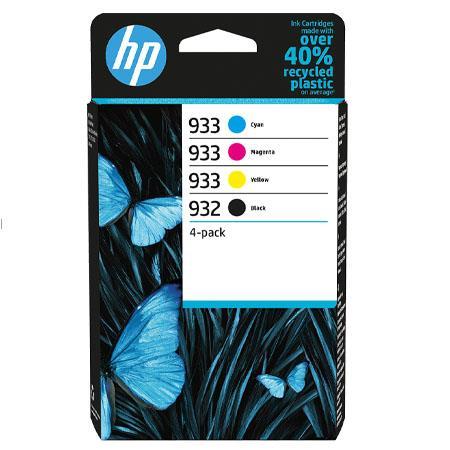 Original HP 932/933 Combo Pack Of 4 Ink Cartridges (Black/Cyan/Magenta/Yellow)