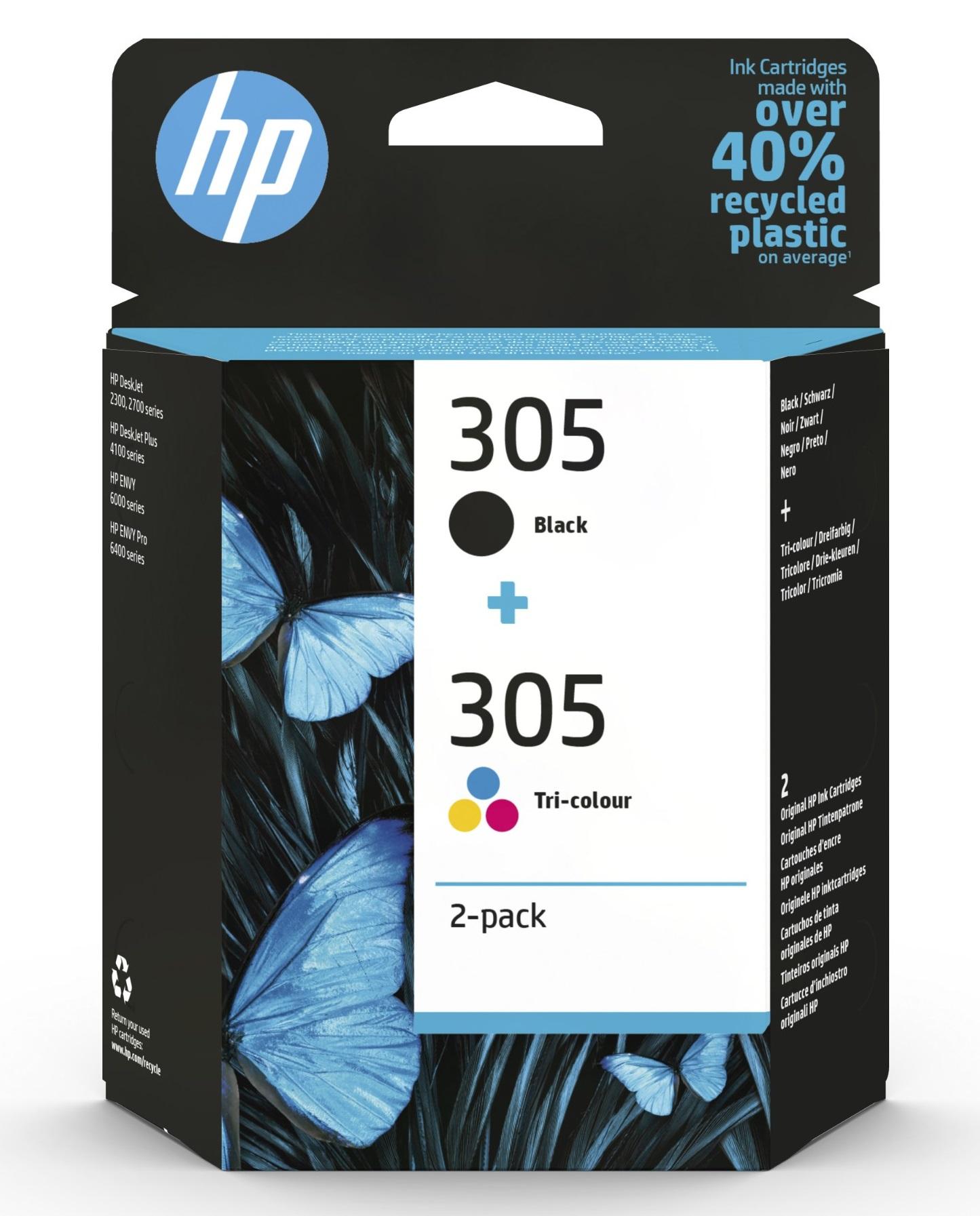 Original HP 305 Black & Tri-Colour Ink Cartridge Multipack 6ZD17AE