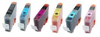 Compatible Canon BCI-6 a Set of 6 Ink cartridge  (Black/Cyan/Magenta/Yellow/Photo Cyan/Photo Magenta)