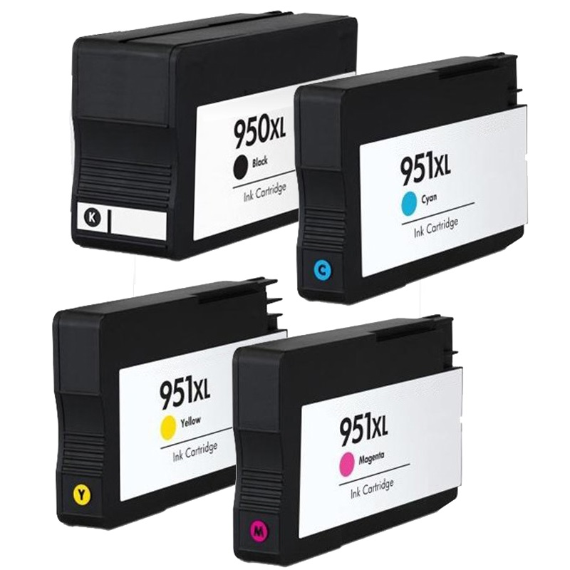Compatible HP 950XL/951XL a set of 4 Ink Cartridges  Black/Cyan/Magenta/Yellow