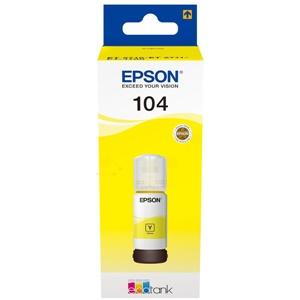 Epson Original 104 Yellow Ecotank Ink Bottle - (C13T00P440)
