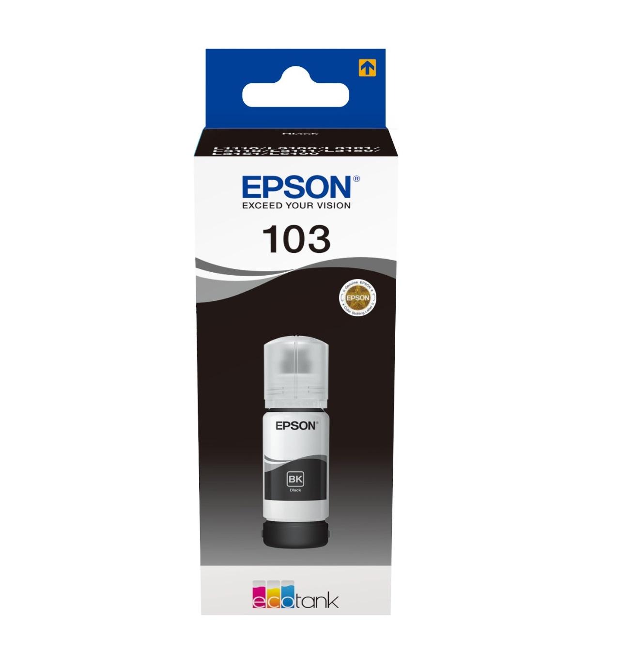 Epson Original 103 Black Ecotank Ink Bottle C13T00S14A