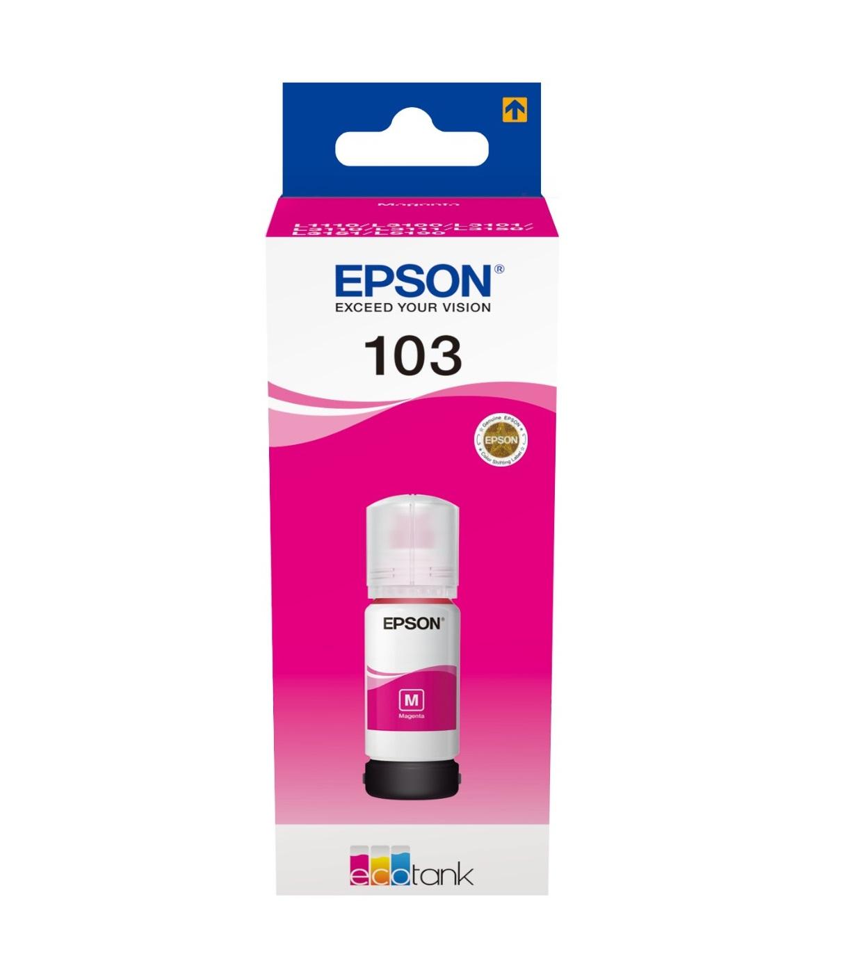 Epson Original 103 Magenta Ecotank Ink Bottle C13T00S34A