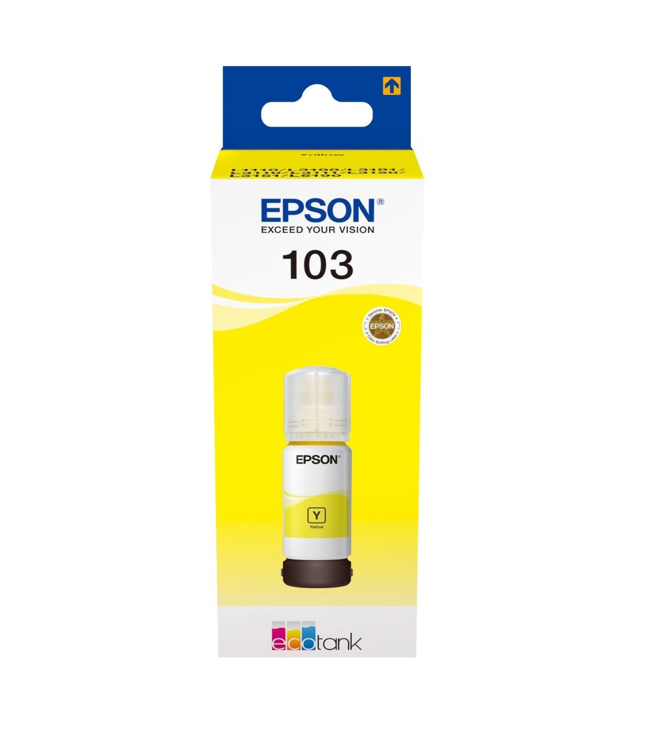 Epson Original 103 Yellow Ecotank Ink Bottle C13T00S44A