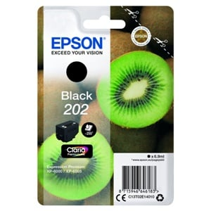 Epson Original 202 Black Inkjet Cartridge - (C13T02E14010)