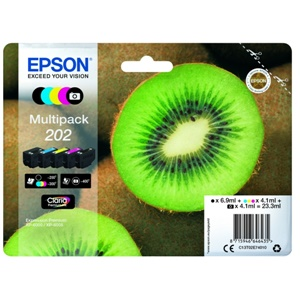 Epson Original 202 5 Colour Inkjet Cartridge Multipack - (C13T02E74010)