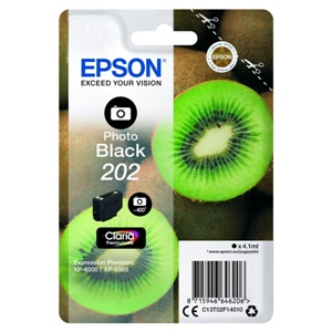 Epson Original 202 Photo Black Inkjet Cartridge - (C13T02F14010)