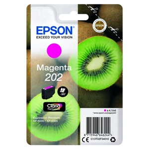 Epson Original 202 Magenta Inkjet Cartridge - (C13T02F34010)