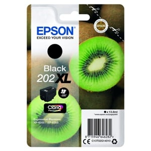 Epson Original 202XL Black High Capacity Inkjet Cartridge - (C13T02G14010)
