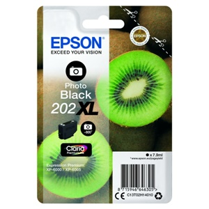 Epson Original 202XL Photo Black High Capacity Inkjet Cartridge - (C13T02H14010)