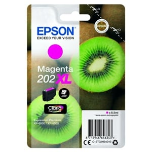 Epson Original 202XL Magenta High Capacity Inkjet Cartridge - (C13T02H34010)