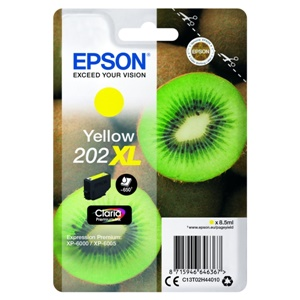 Epson Original 202XL Yellow High Capacity Inkjet Cartridge - (C13T02H44010)