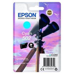 Epson Original 502 Cyan Inkjet Cartridge - (C13T02V24010)