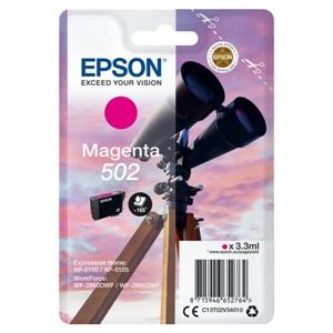 Epson Original 502 Magenta Inkjet Cartridge - (C13T02V34010)