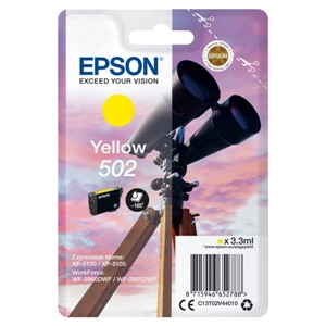 Epson Original 502 Yellow Inkjet Cartridge - (C13T02V44010)