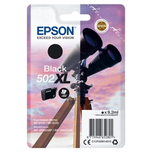 Epson Original 502XL Black High Capacity Inkjet Cartridge - (C13T02W14010)