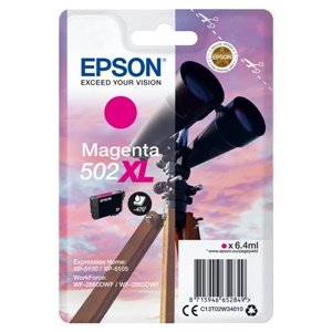 Epson Original 502XL Magenta High Capacity Inkjet Cartridge - (C13T02W34010)