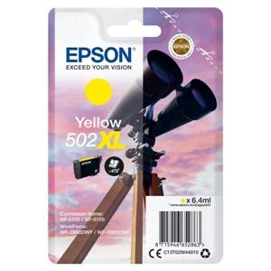 Epson Original 502XL Yellow High Capacity Inkjet Cartridge - (C13T02W44010)
