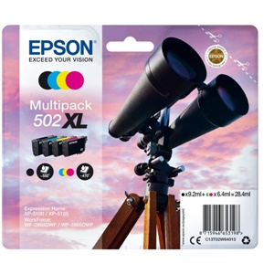 Epson Original 502XL Four Colour High Capacity Inkjet Cartridge Multipack - (C13T02W64010)