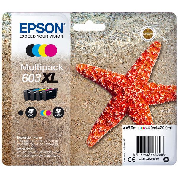 Original Epson 603XL High Capacity Ink Cartridge Multipack (Black/Cyan/Magenta/Yellow)
