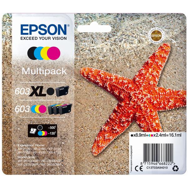 Original Epson 603/603XL Ink Cartridge Multipack (Black/Cyan/Magenta/Yellow)