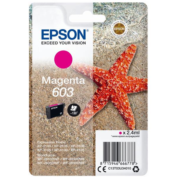Original Epson 603 Magenta Ink Cartridge (C13T03U34010)